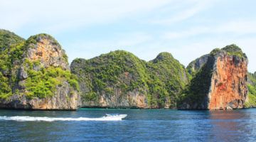 phi phi islands from the boat