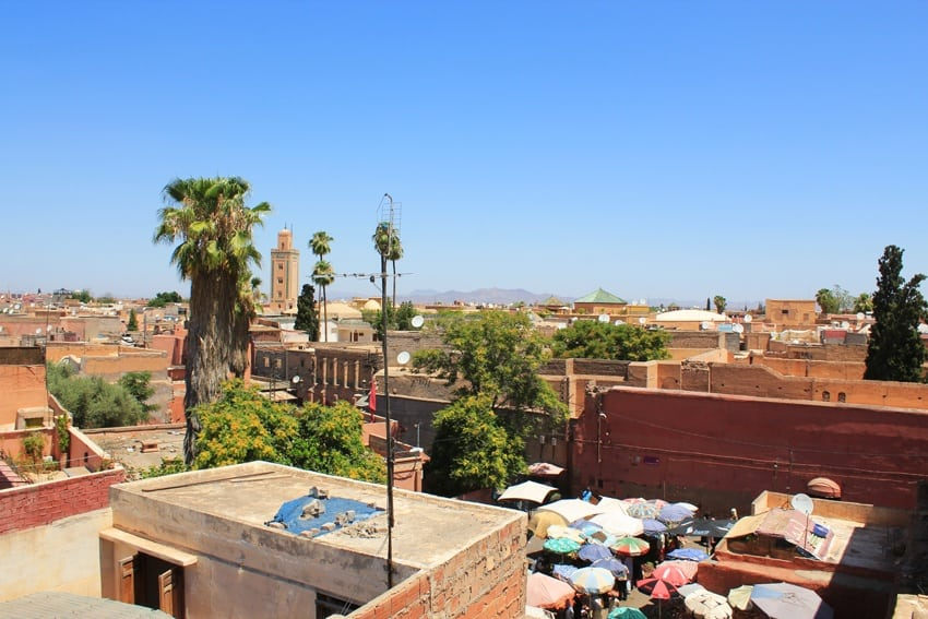 marrakech from above