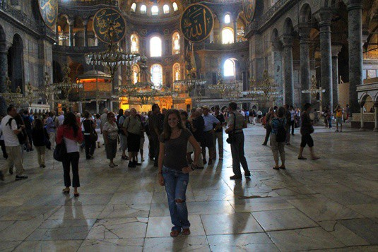 lauren at hagia sofia