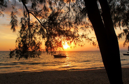 Sunset on Otres Beach