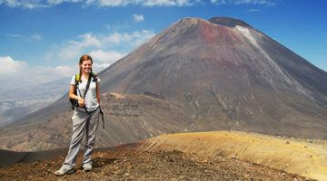 Lauren hiking the Tongariro Crossing
