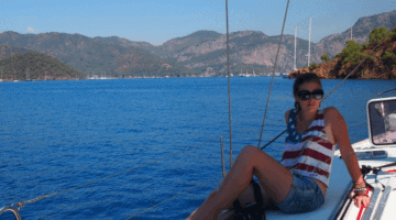 Sailing off the coast of Turkey