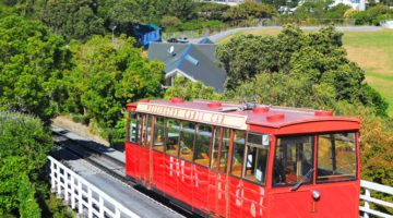 red cable car wellington