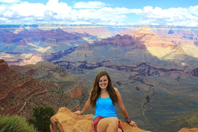 Lauren at the Grand Canyon