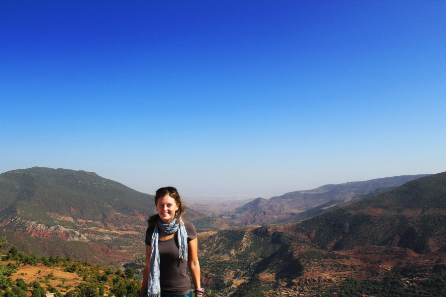 Lauren in the Atlas Mountains