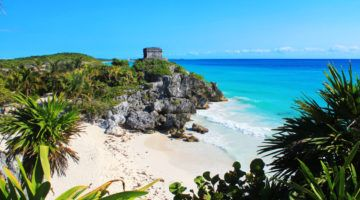 Ruins on the beach in Tulum