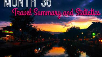 Month 36 travel summary