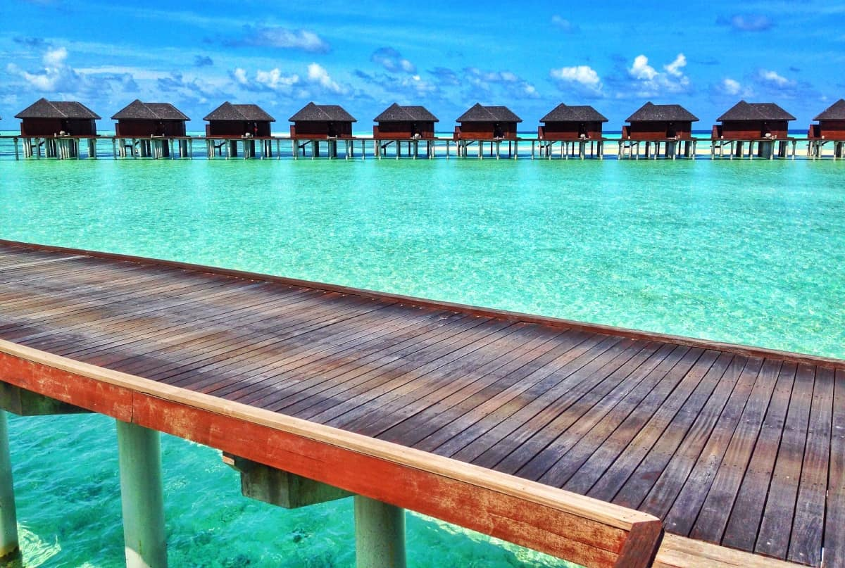 Overwater Bungalows for Dave's birthday
