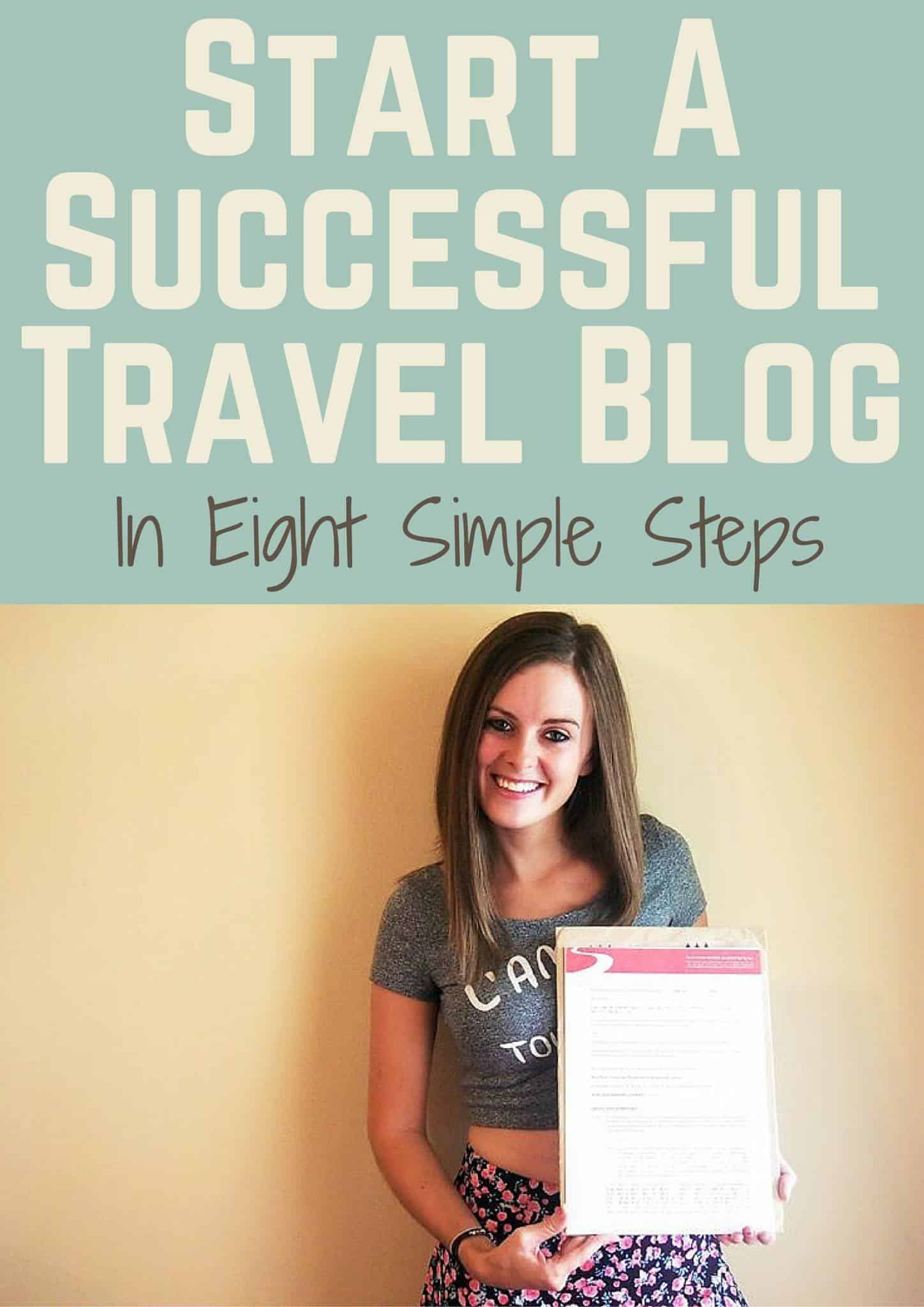 simple steps starting travel blog