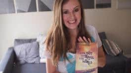 Lauren with How Not to Travel the World book