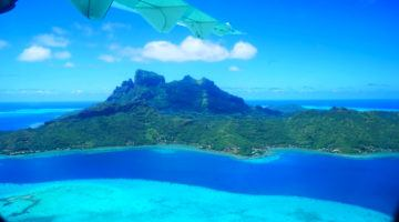 Taking off in Bora Bora