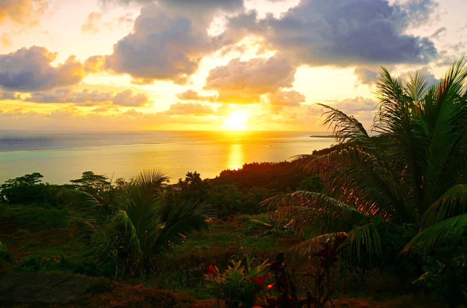 sunrise in Raiatea