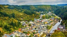 Vianden, as seen from its castle