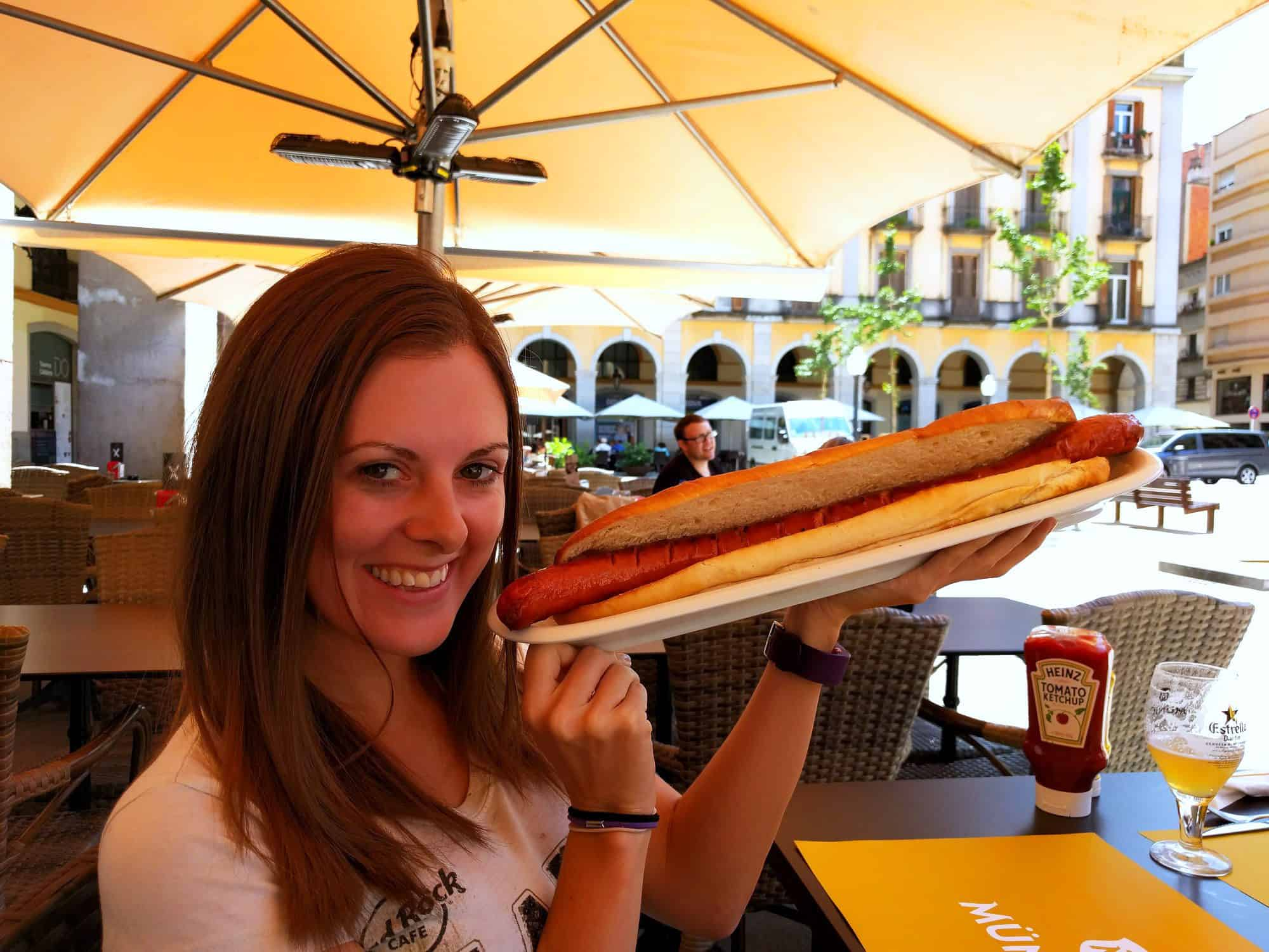 I'm all about challenges. But not eating this hot dog, because I think it ended up giving me food poisoning.