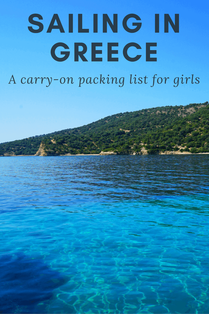 what to pack for sailing in greece