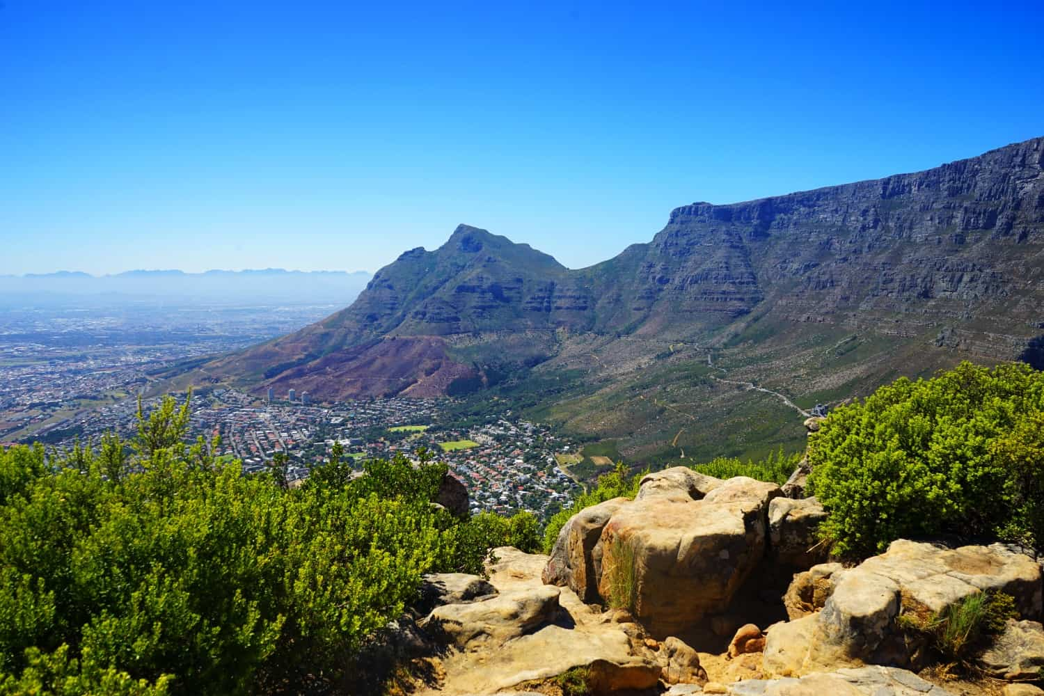 View of Table Mountain from Lions Head