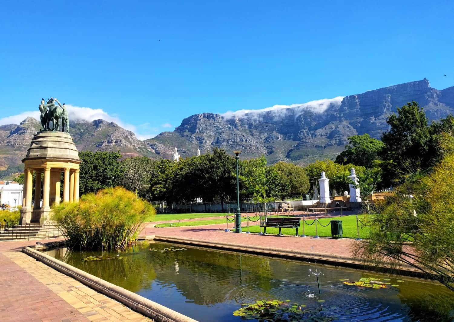 Cape Town gardens and fountain