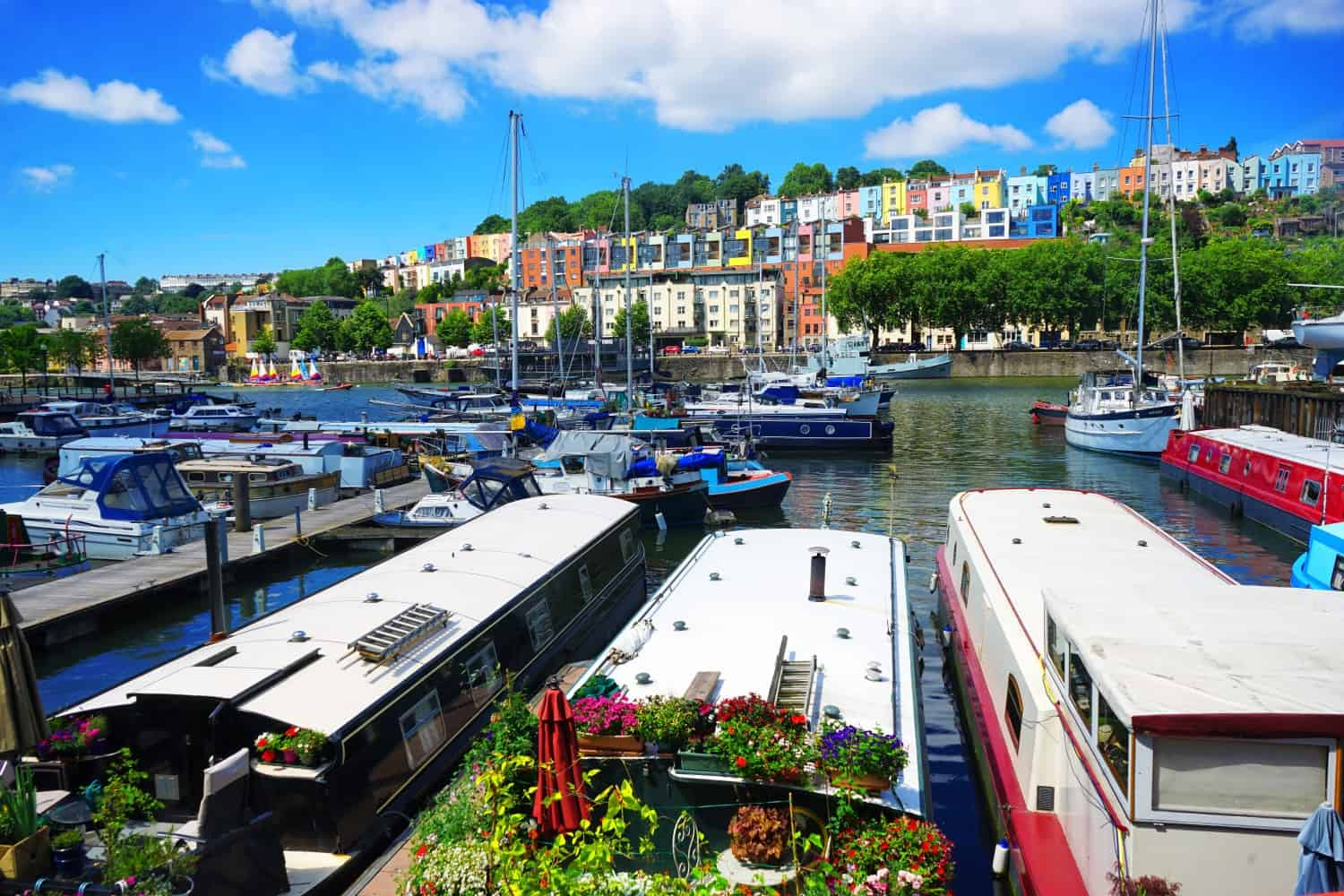 Colourful Bristol on a sunny day