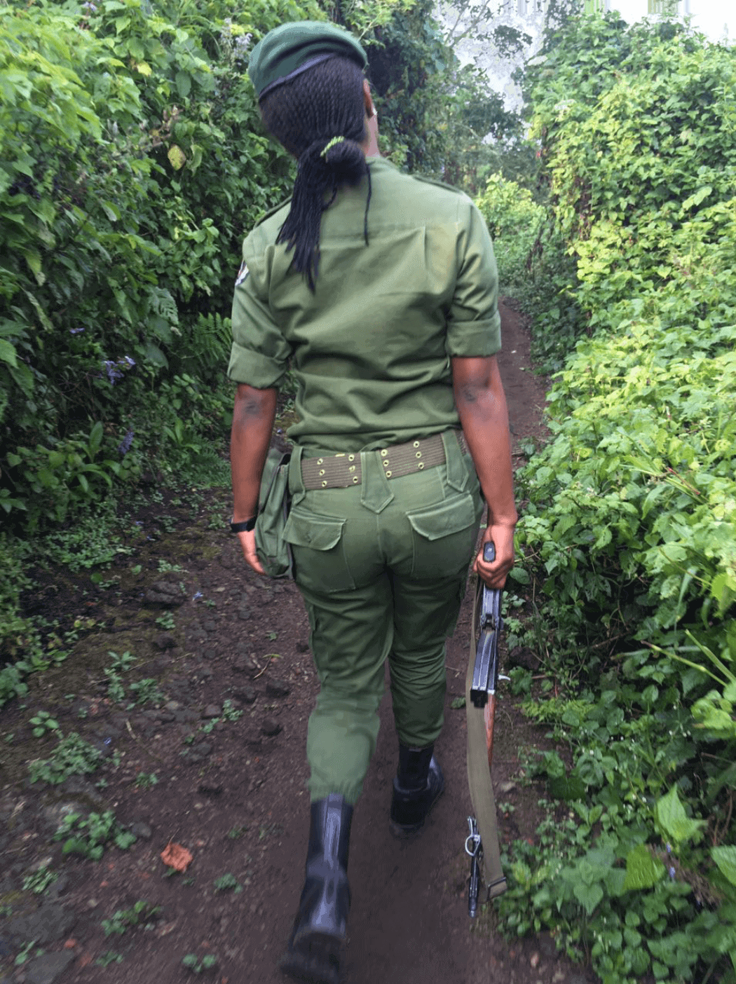 Woman ranger at Virunga National Park