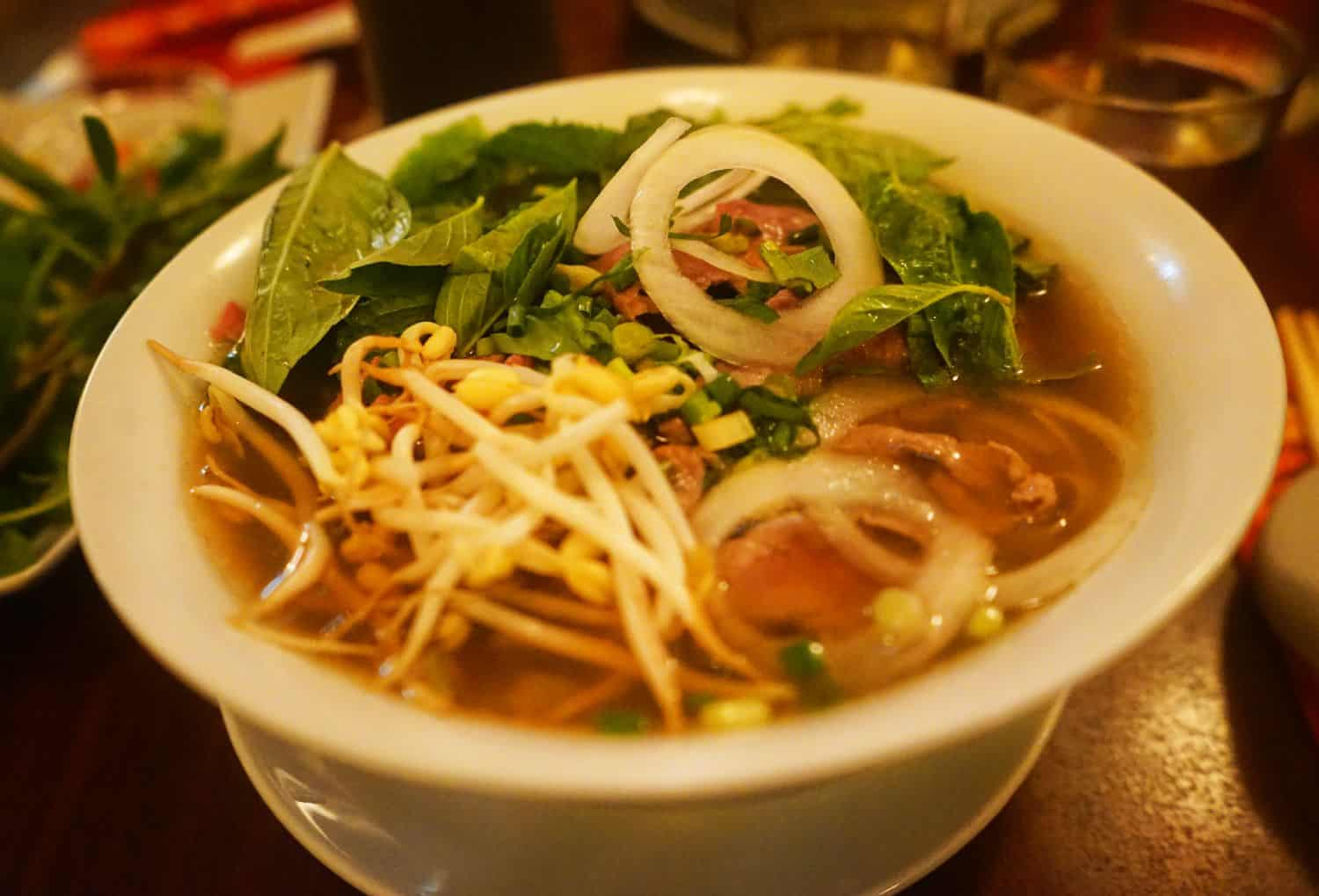 Bowl of pho in Copenhagen