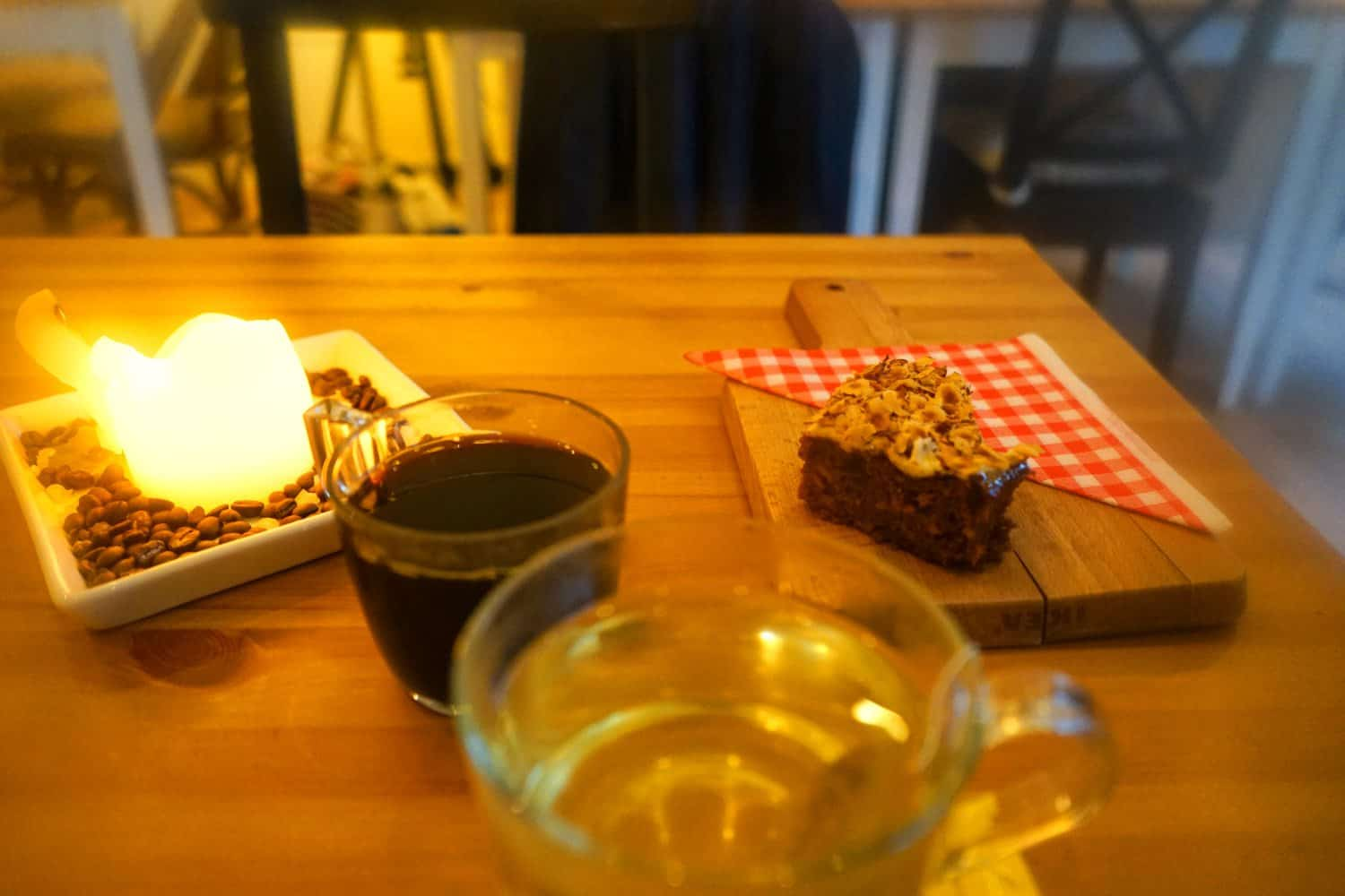 Coffee and cake in a Copenhagen cafe