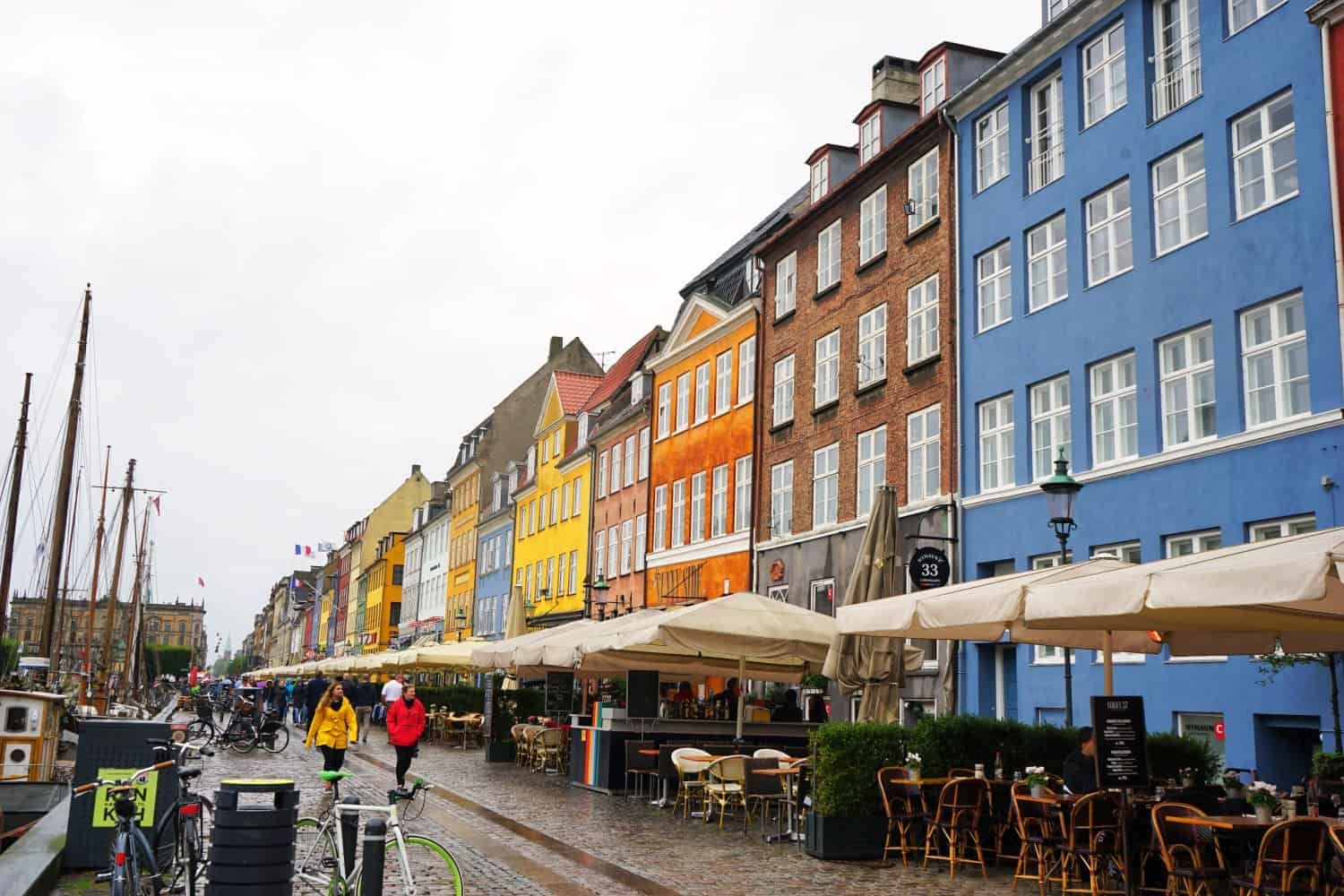 Nyhavn Copenhagen in the rain