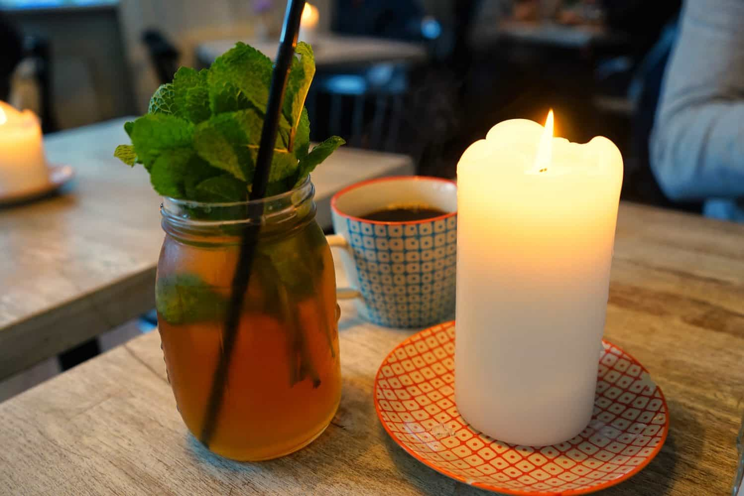 Tea and candles in Copenhagen