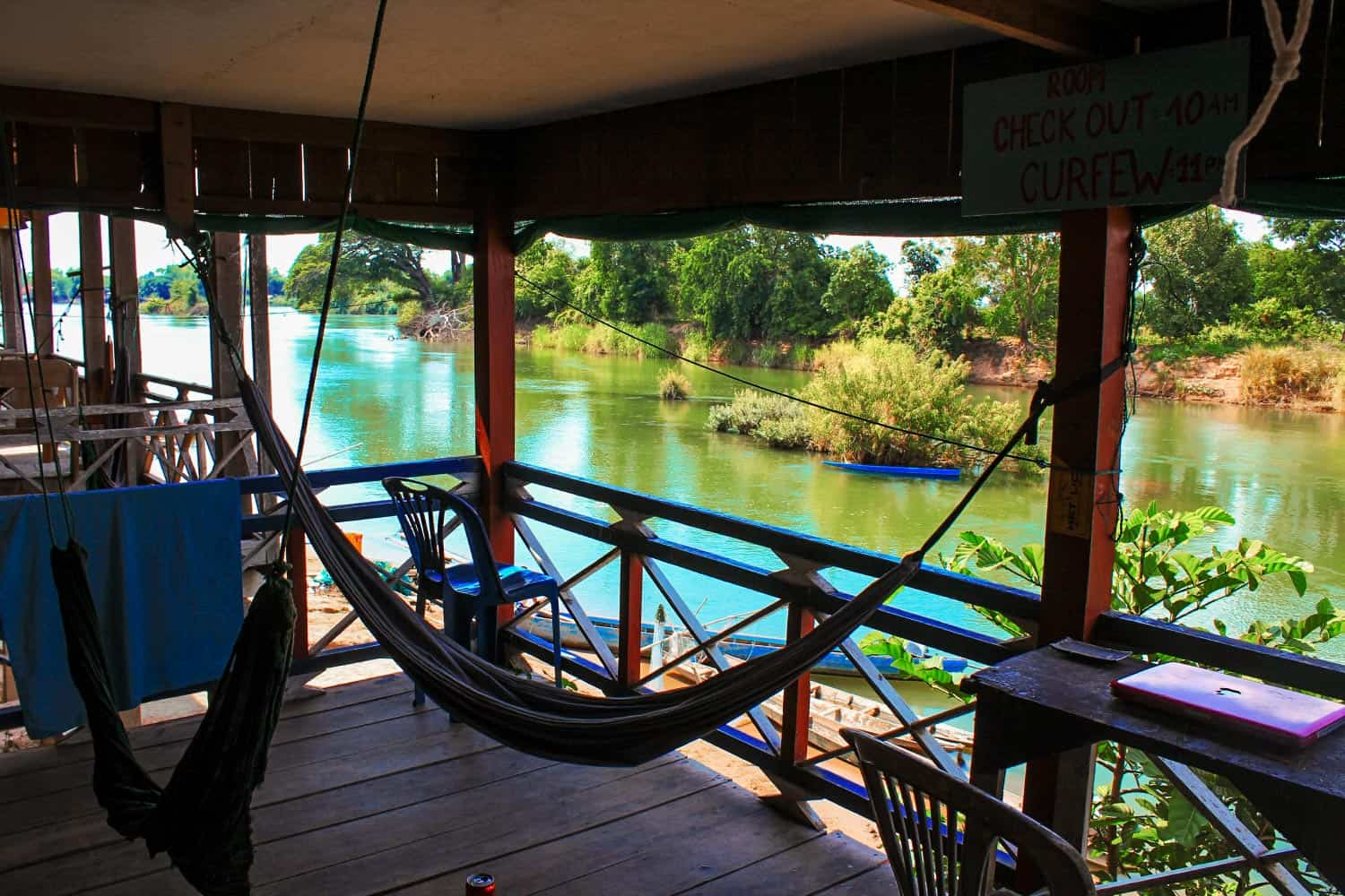 Digital nomad office in Laos