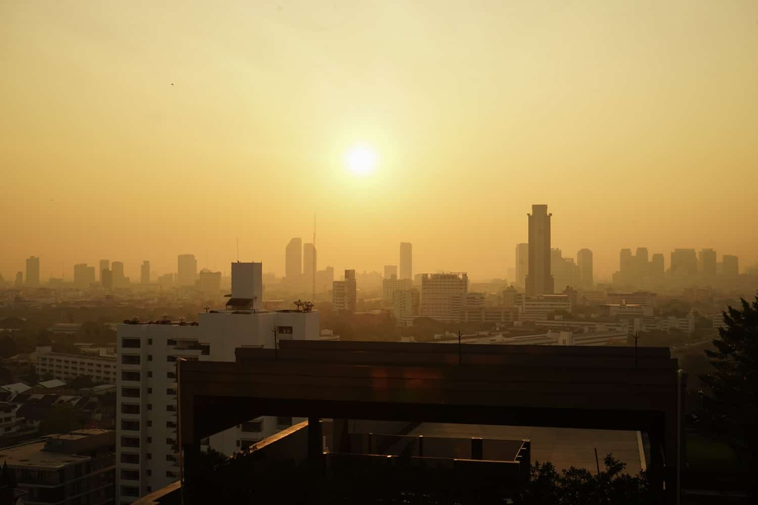 Bangkok haze at sunrise